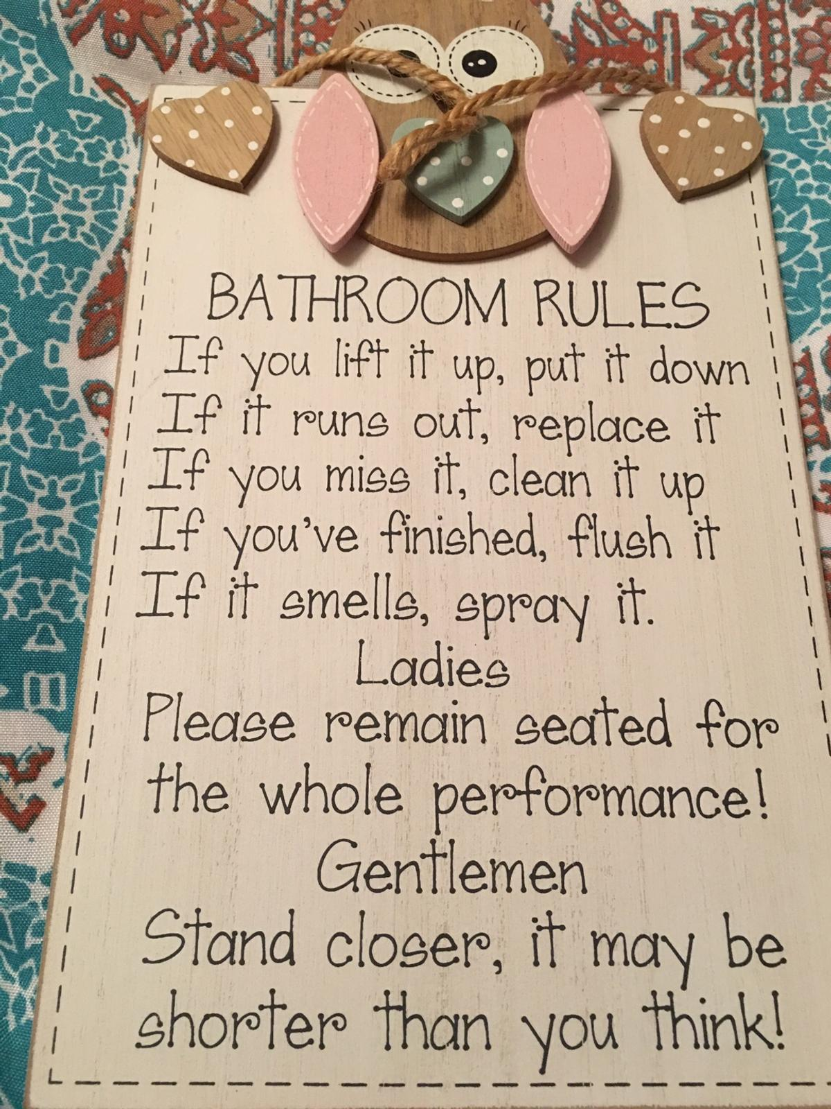 House RULES new sign
