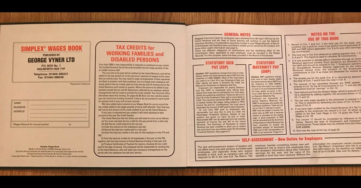 Simplex wages book in RM8 London for £29 00 for sale - Shpock