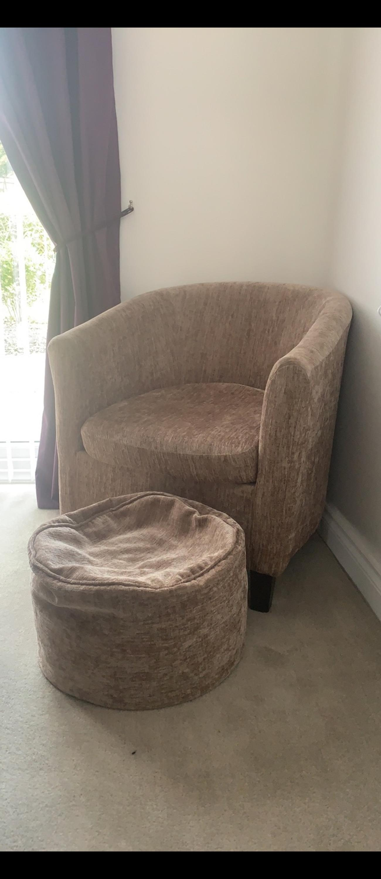 online store 5984f d0707 Dunelm Tub Chair and foot stool