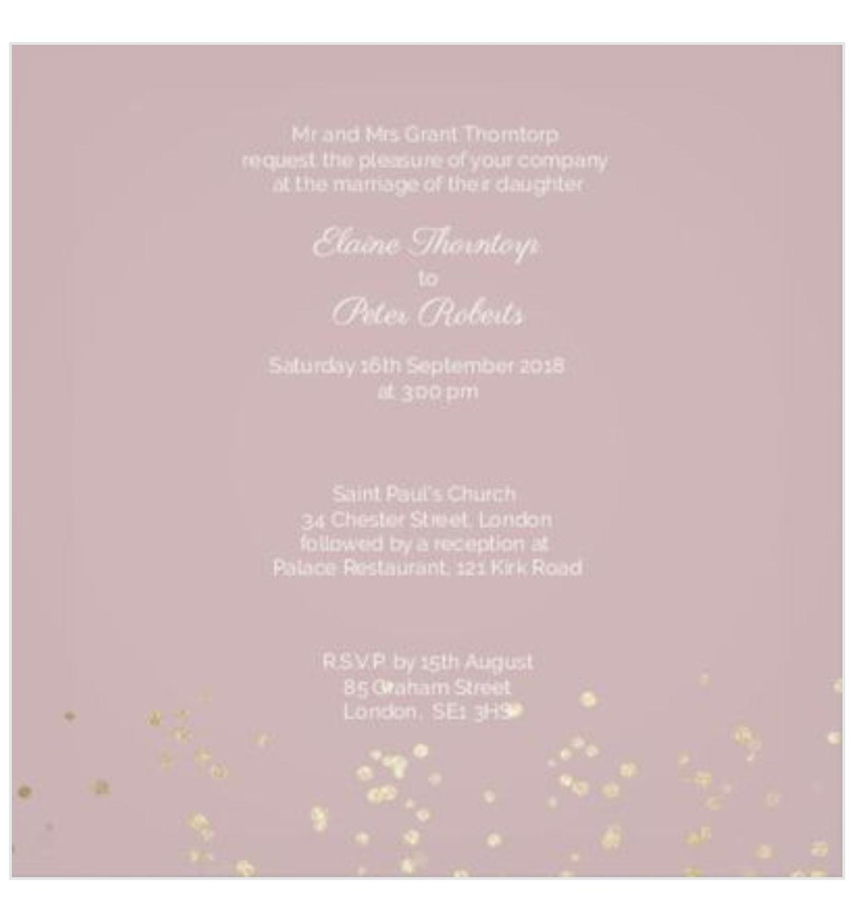 Personalised Wedding Invitations Hand Made In L25 Liverpool