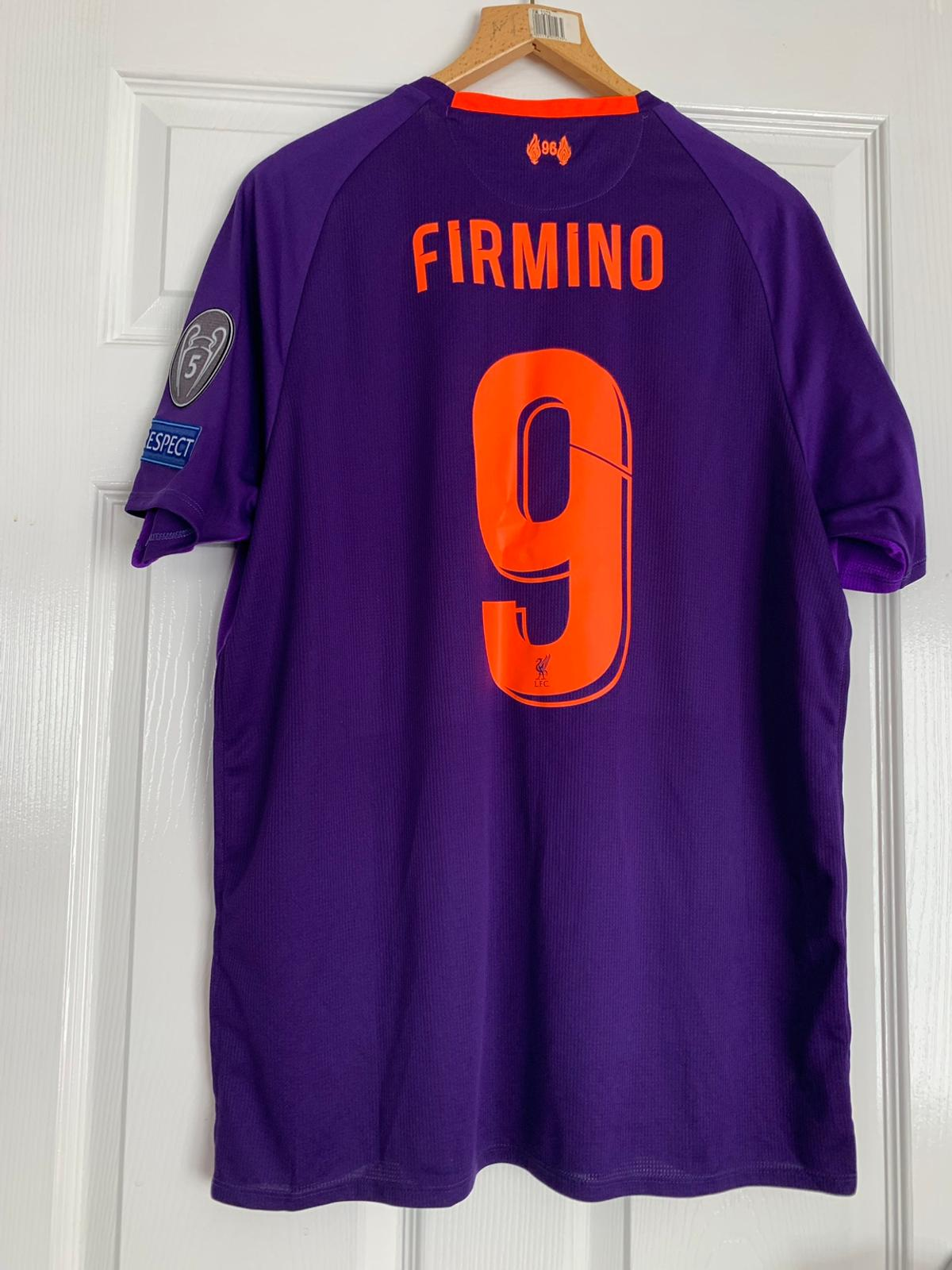 huge discount c1584 299d0 Liverpool Champions league shirt XL Firmino