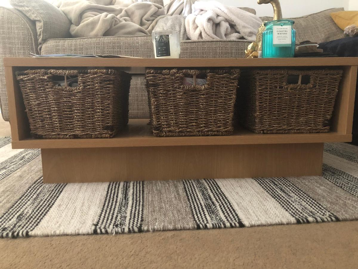 Argos Coffee Table With Baskets