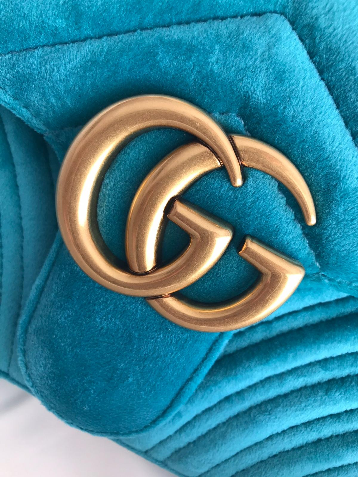 151081b950fe Gucci Velvet Marmont Small Petrol Blue in S60 Rotherham for £750.00 ...