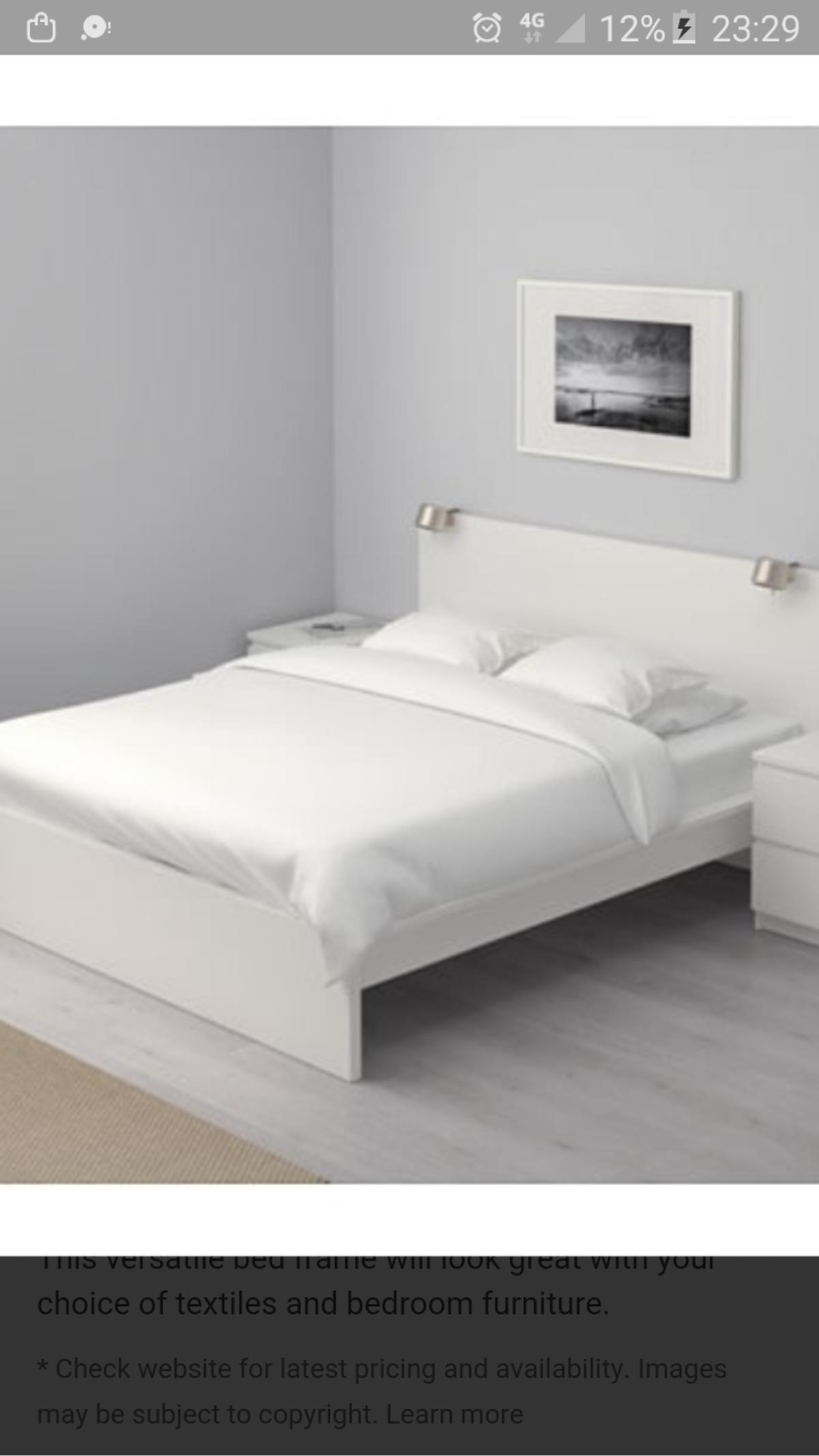 White Ikea King Size Malm Bed In Sw1v