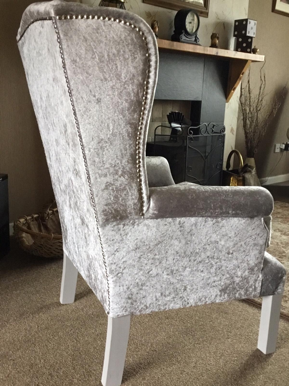 Shades Of Grey Wingback Chair