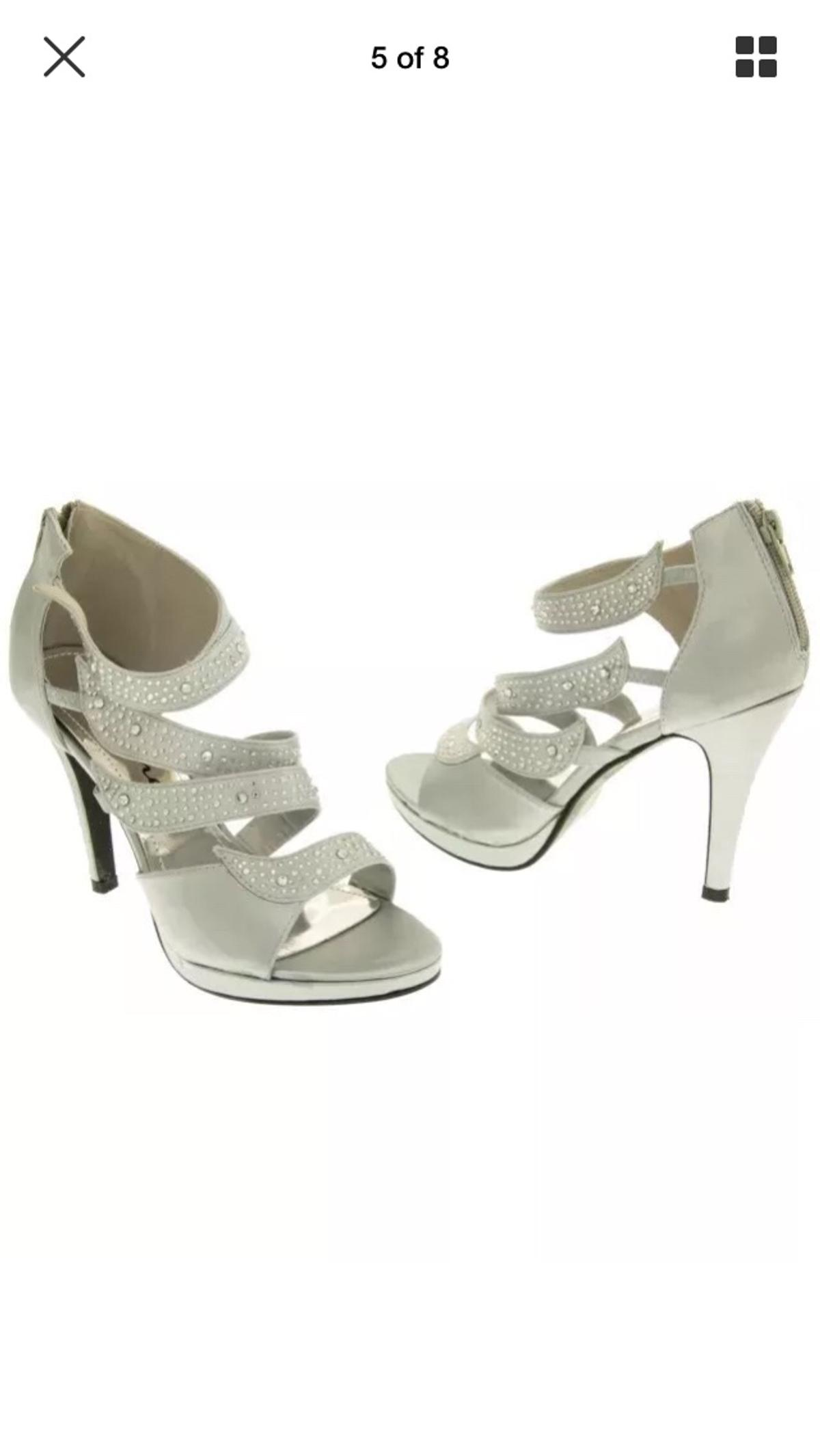 612fca36e5407 NEW SILVER GREY SATIN PARTY SHOES UK 3-8 in WF15 Kirklees for £4.00 ...