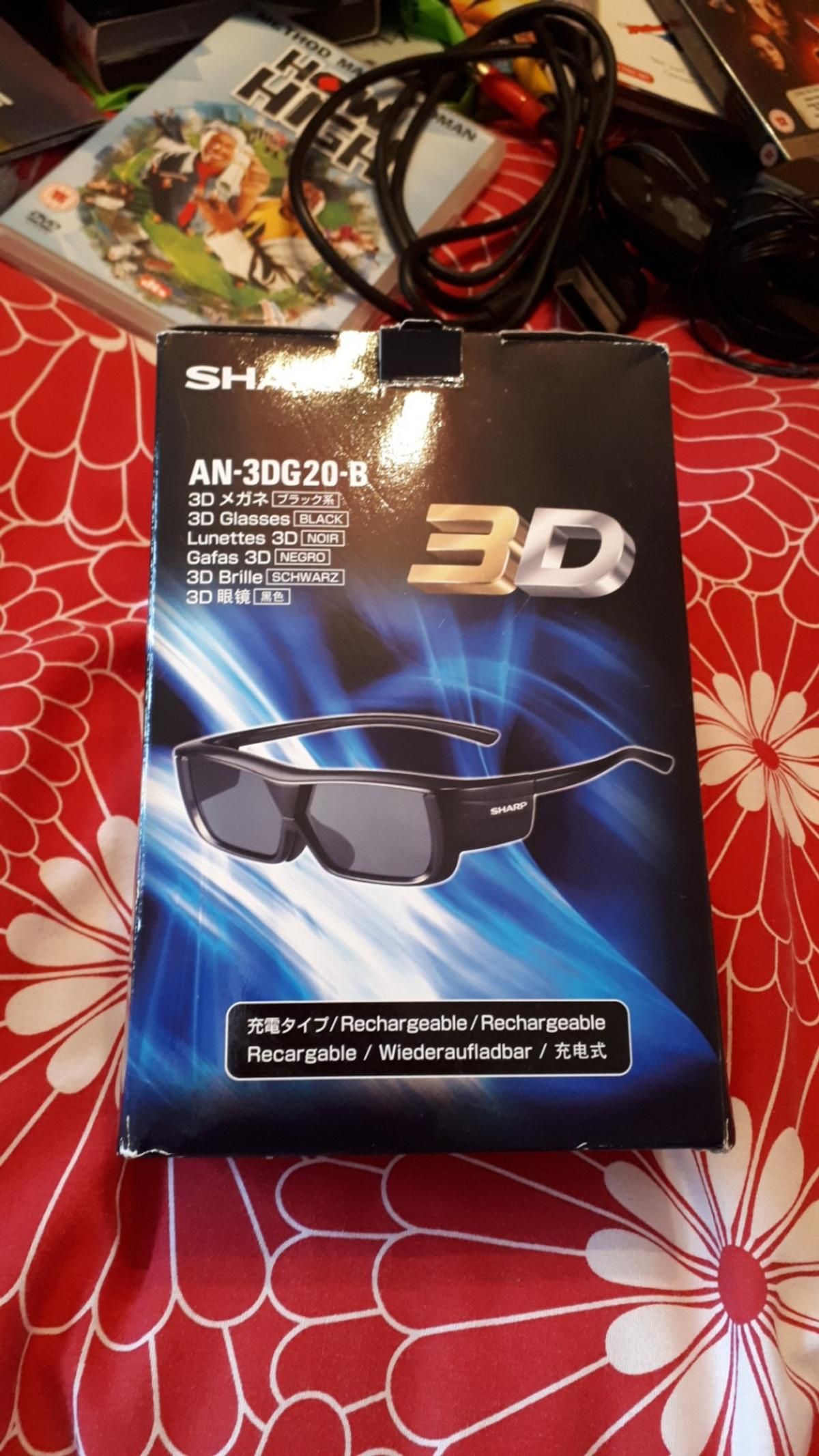f10ab622a9d6df sharp 3d glasses with wires in Dudley for £4.00 for sale - Shpock