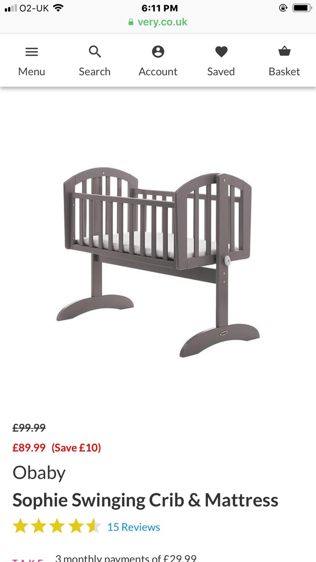 b5edd4b726dc Baby crib in E12 Newham for £30.00 for sale - Shpock
