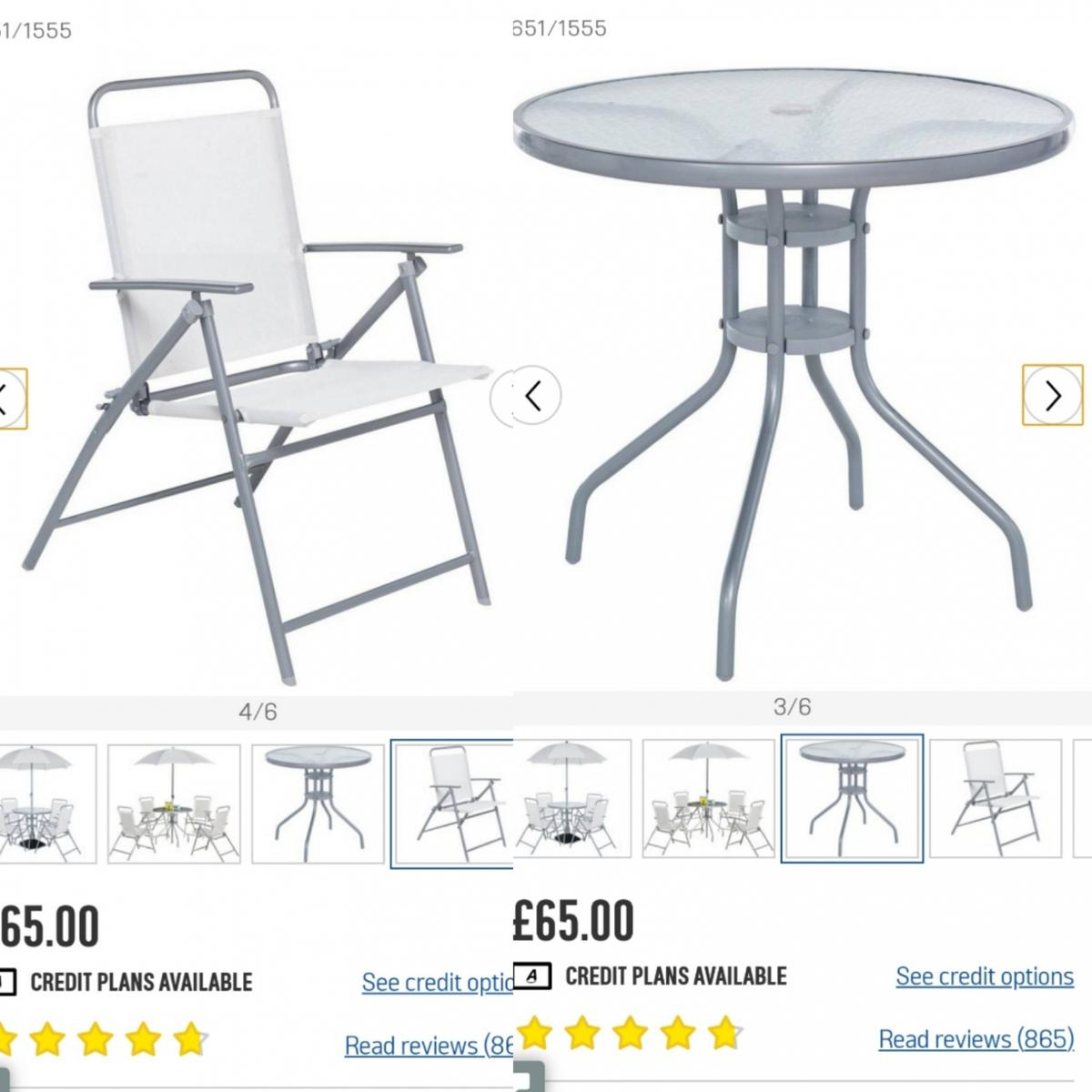 Garden / Patio Set - Table & 10 Chairs : ARGOS