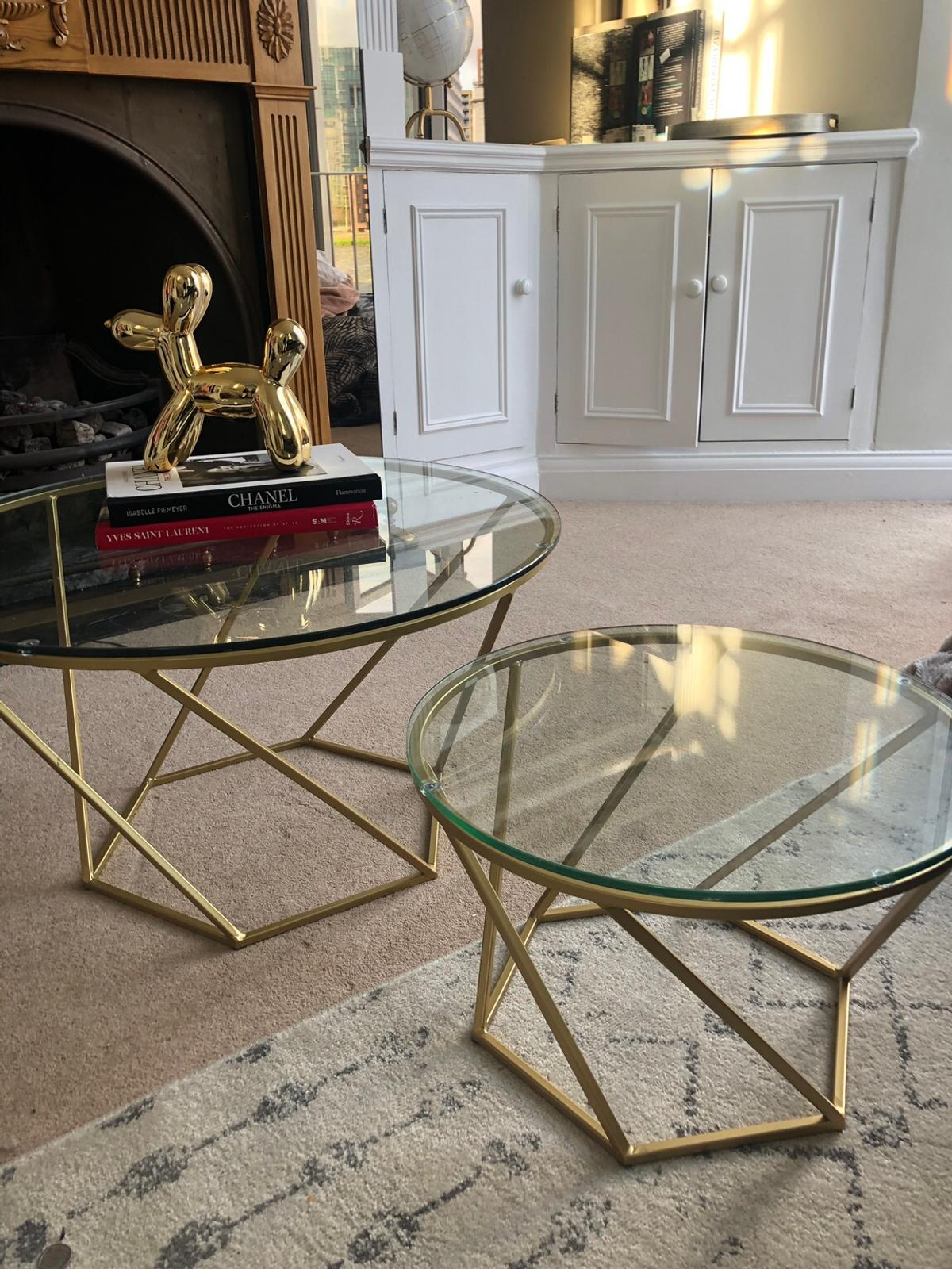 Gold Coffee Table Set