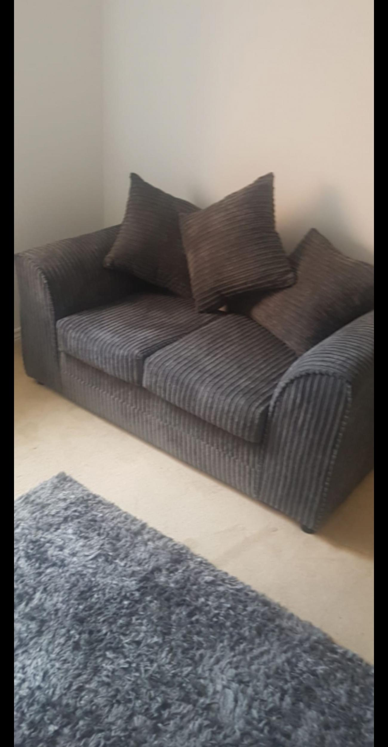 Jumbo Cord Grey 2 Seater Sofa In B63 Dudley For 120 00 For Sale