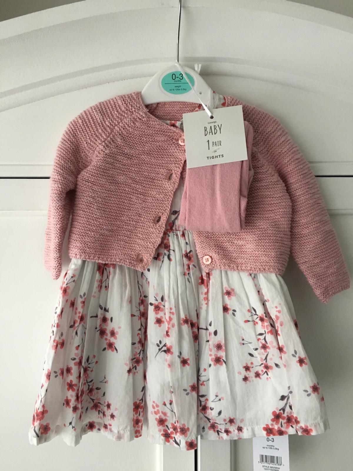 popular design best sneakers official sale Baby's dress and cardigan set BNWT