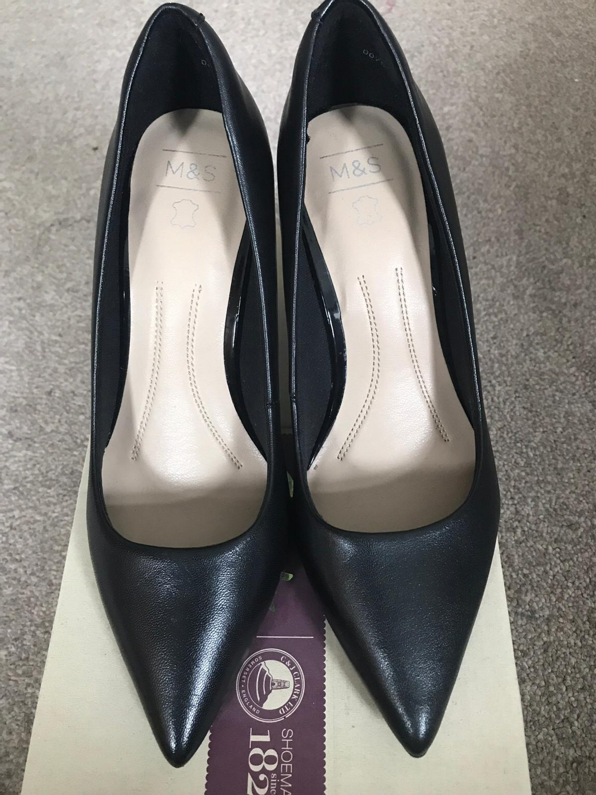 Brand new Black shoes from M&S Size 3 but more likely size 4 From pet and smoke free home Collection only please