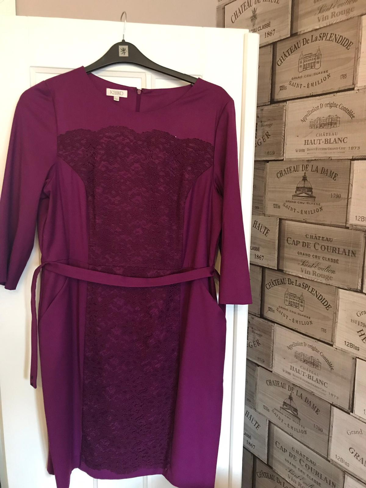 Kaliko size 18 dress Worn once Berry colour