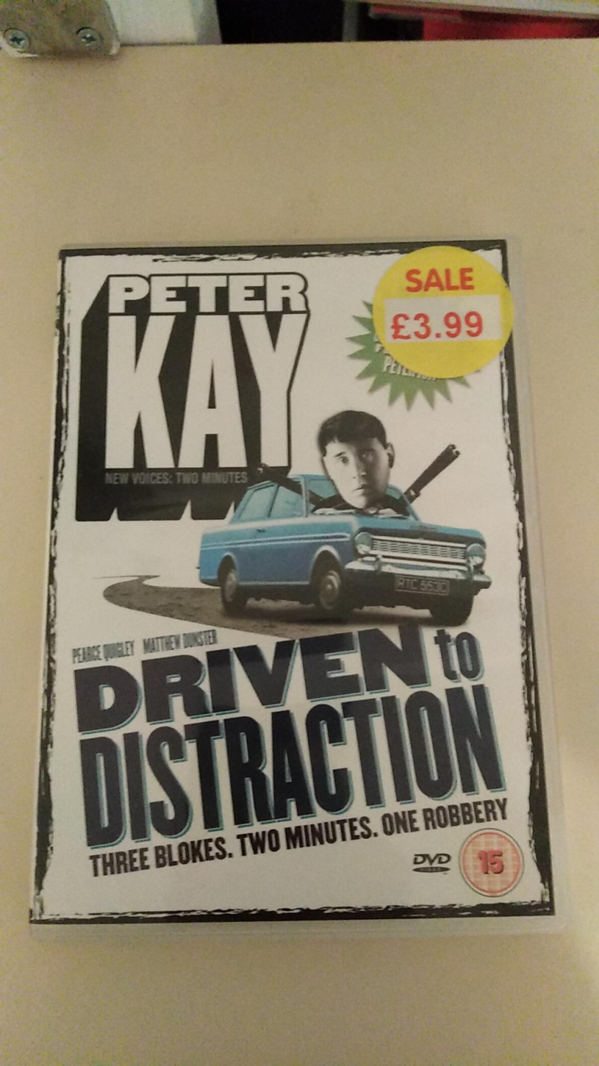 Peter kay driven to distraction dvd  As seen in pic Sold as seen  50p  Collection from Sutton-in-Ashfield No posting