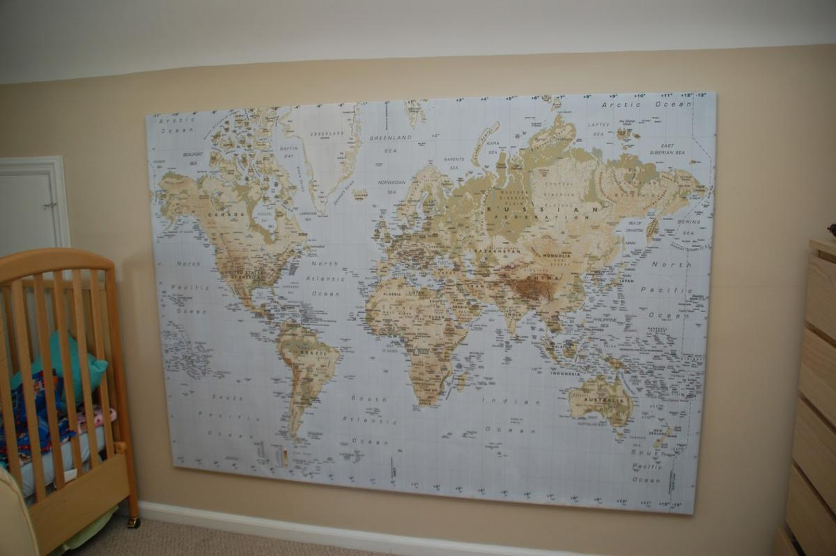 Ikea World Map Picture with Frame/canvas in DY8 Dudley für 50,00 ...
