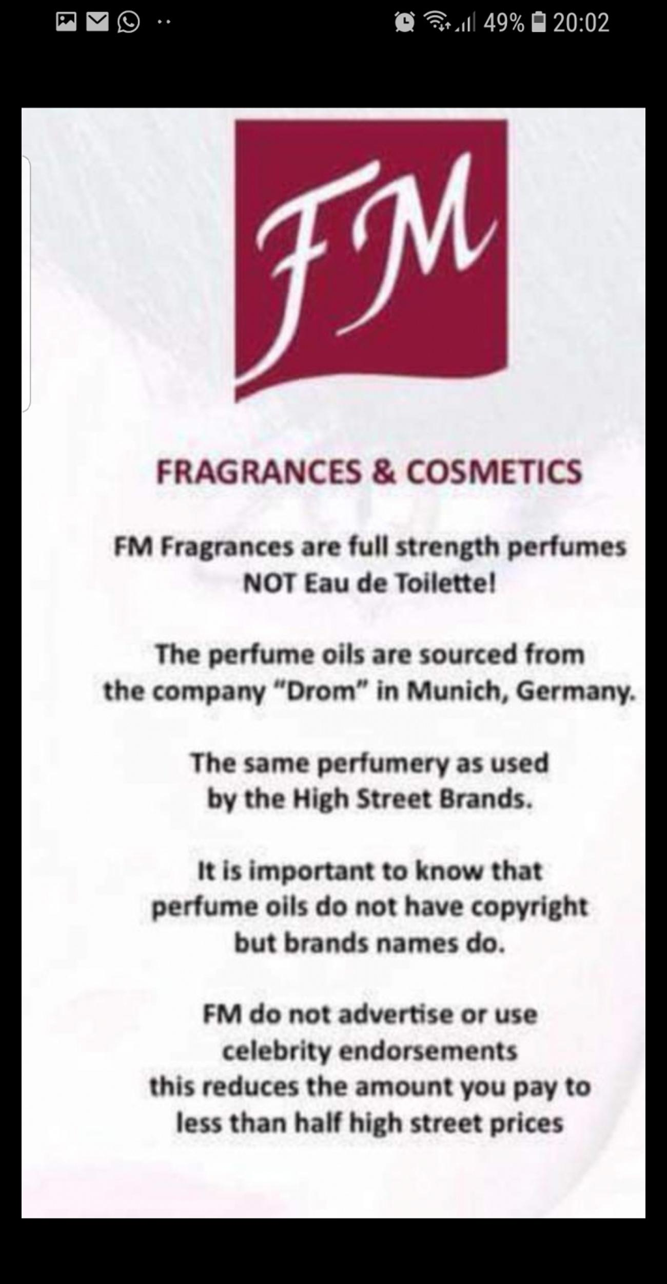 This is exactly the same as the designer one from the same perfumery £14.50