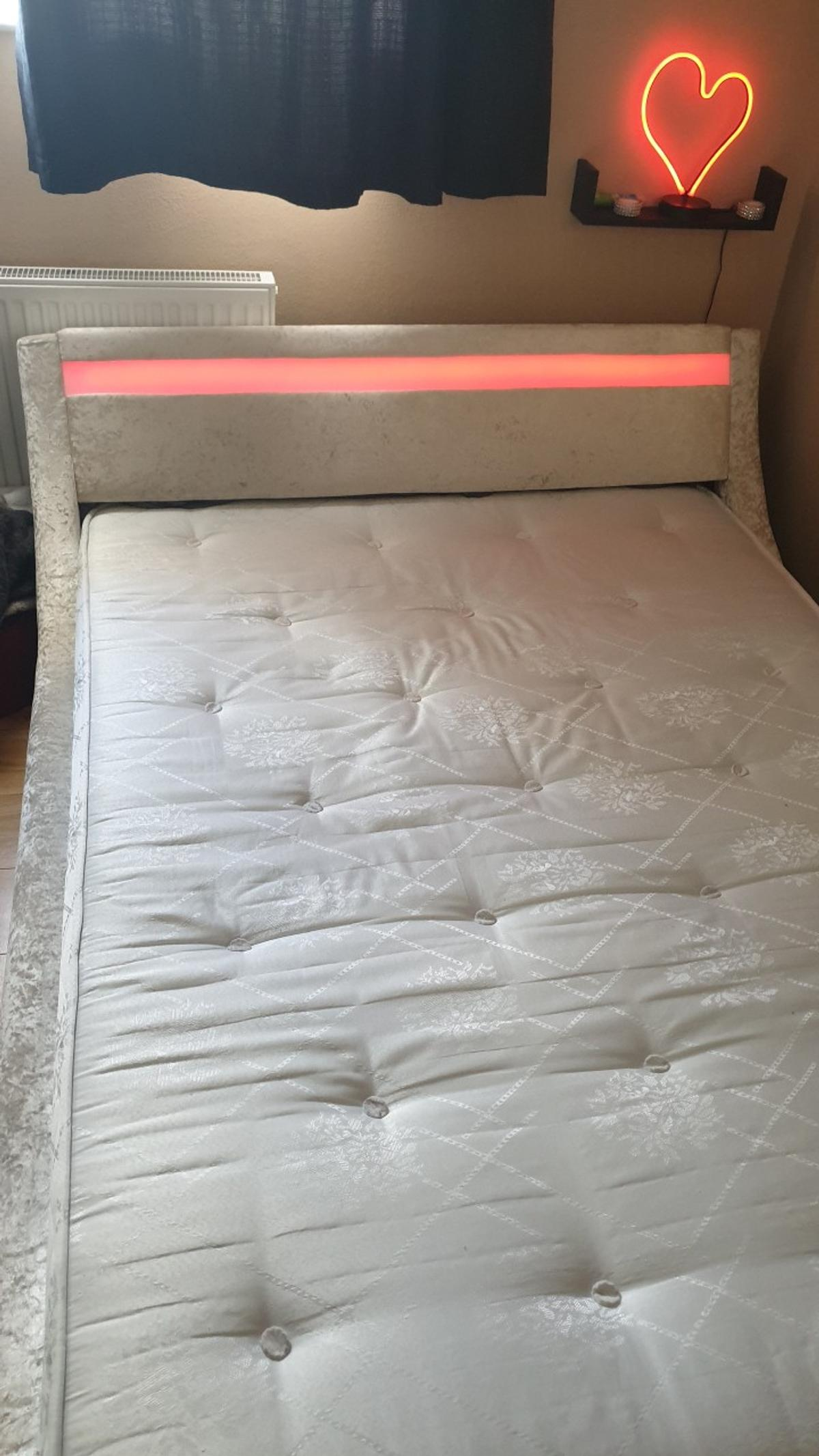 Tienerbed Incl Matras.Double Led Bed Frame Incl Mattress In Ta2 Taunton For 220 00 For