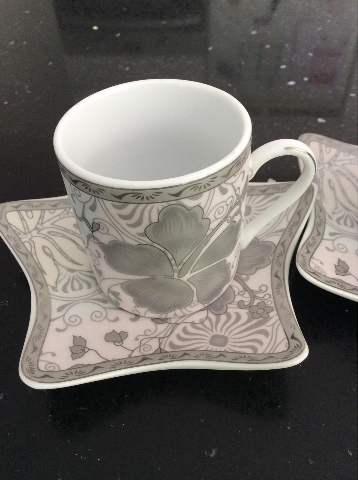6 cups and saucers used once ,I have 2 sets of this