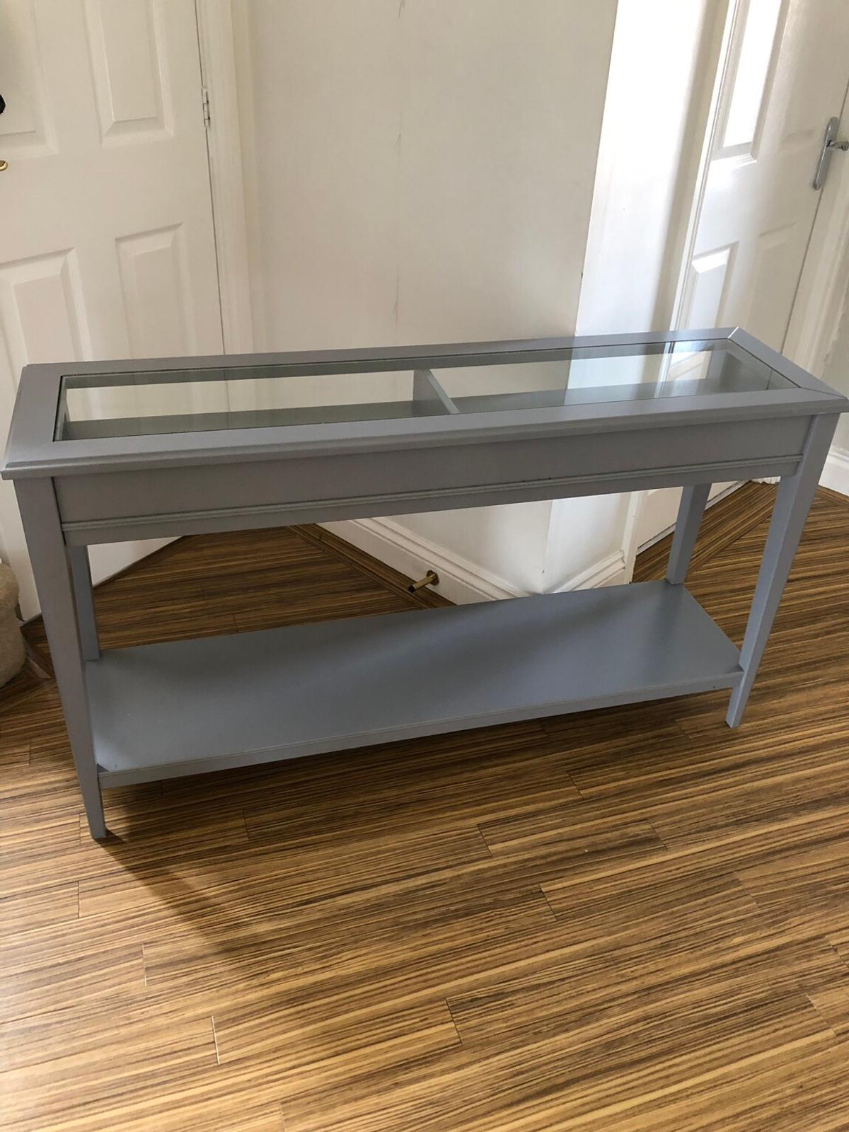 Ikea Liatorp Console Table Grey In