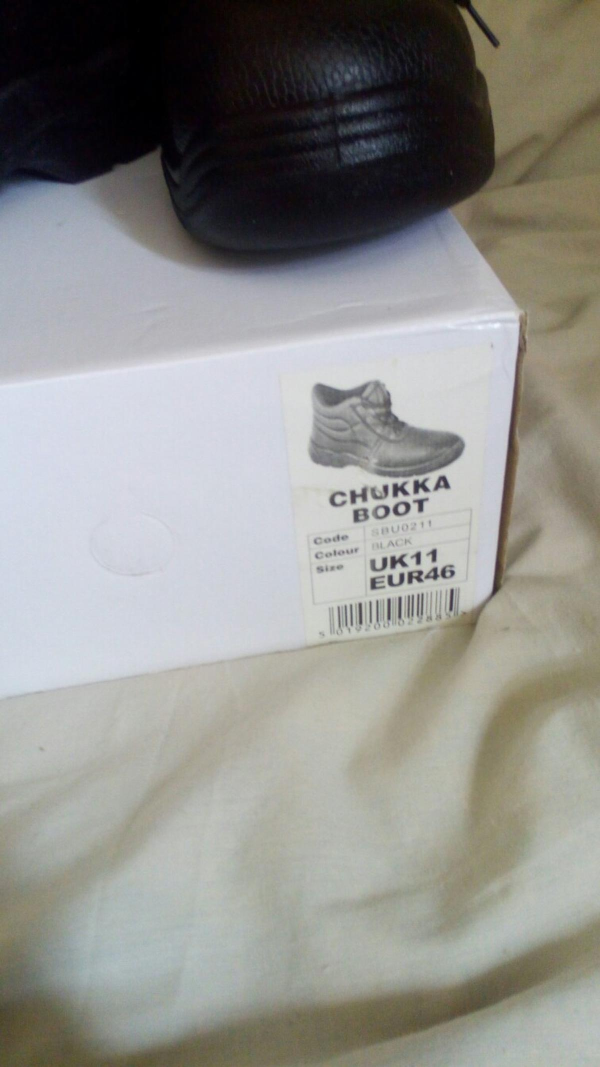 only collection brand new size 11 chukka black boots for 15 pound