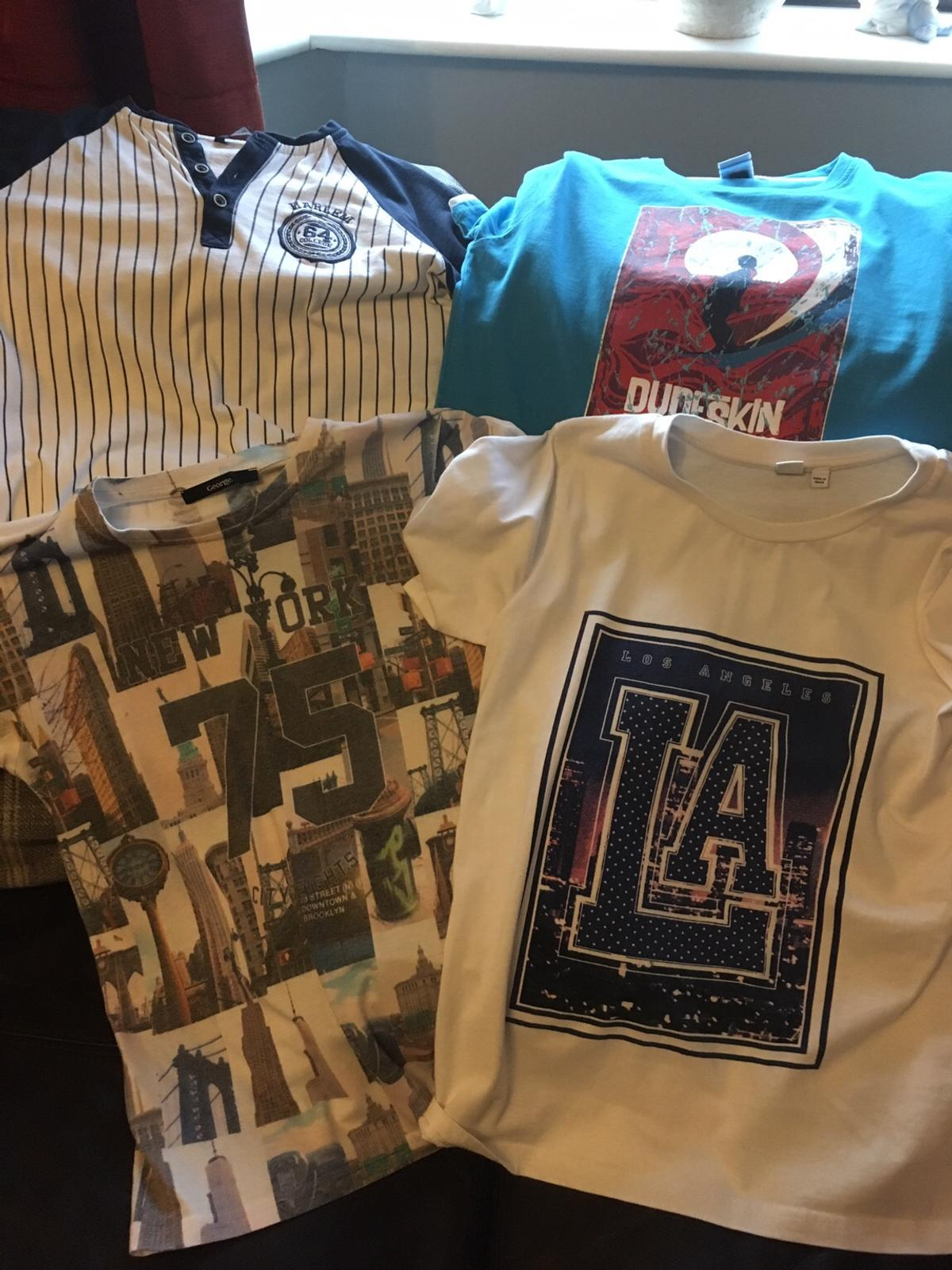 LA age 11-12 Harlem striped shirt 11-12 New York 12-13 George Dudeskin 11-12  All excellent condition