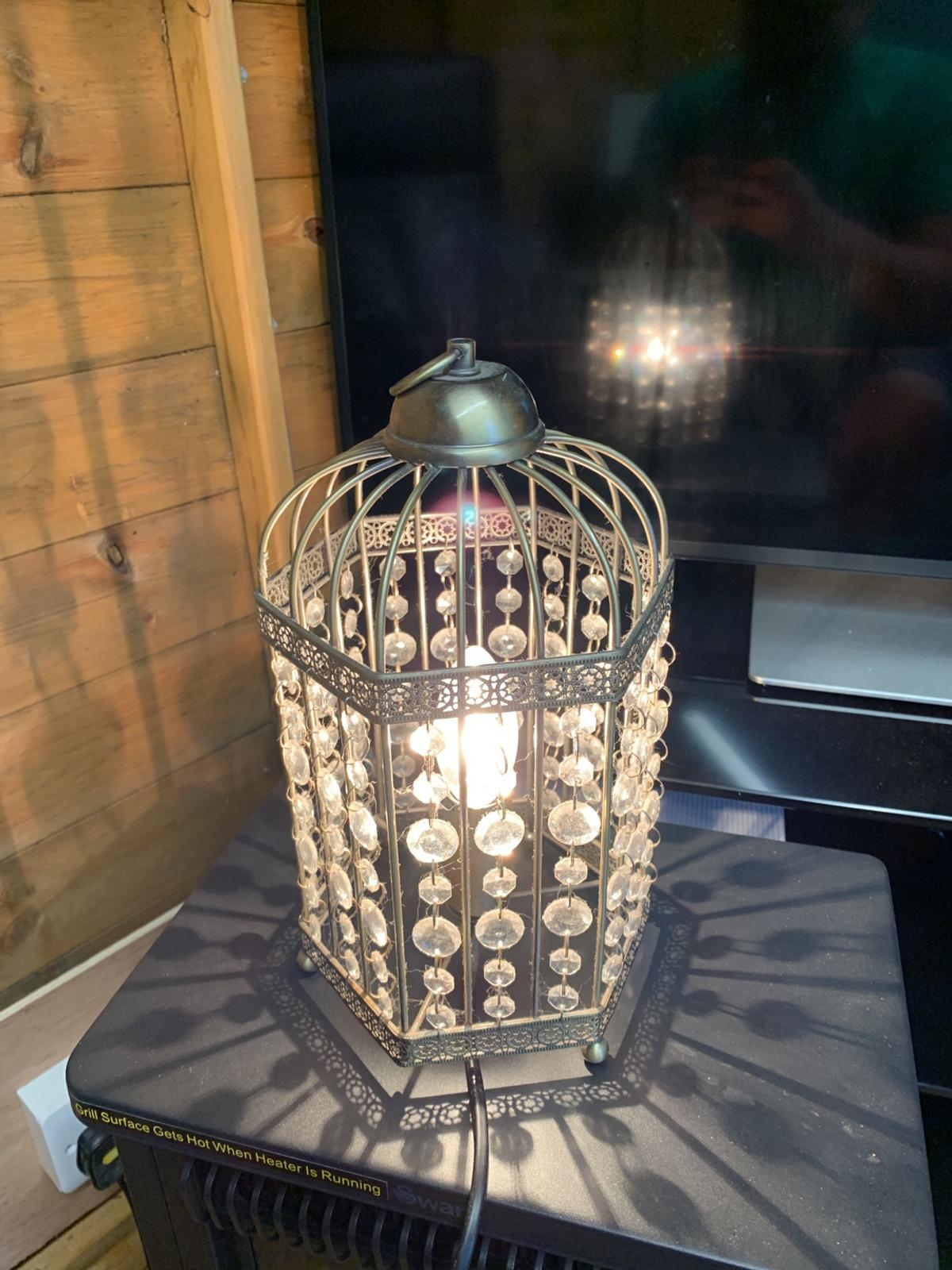 Metal table lamp, needs good dust, collection or can drop off locally for fuel money