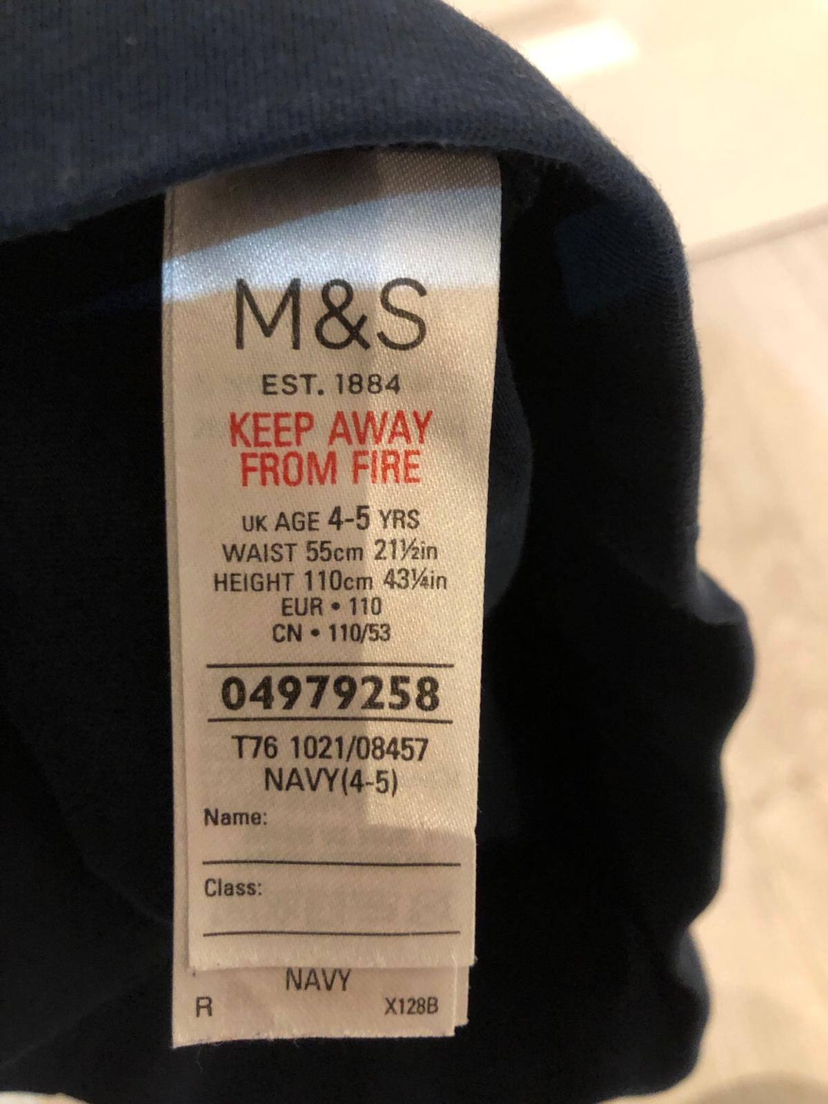Navy 4-5 years M&S In excellent condition Postage not included