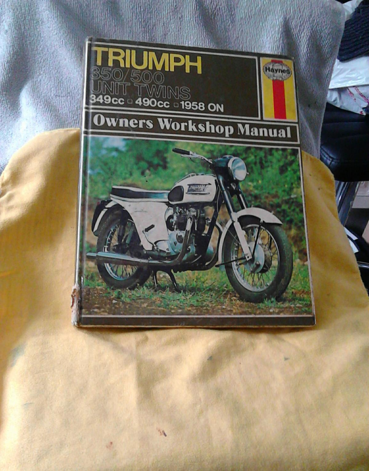 EARLY HAYNES TRIUMPH 350 & 500 Workshop Manual, used condition, these Books are rare, see pictures, £4 each.