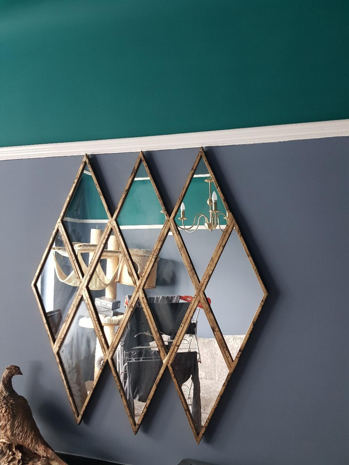 Gold Diamond Shaped Mirror In L19 Liverpool For 35 00 For Sale Shpock
