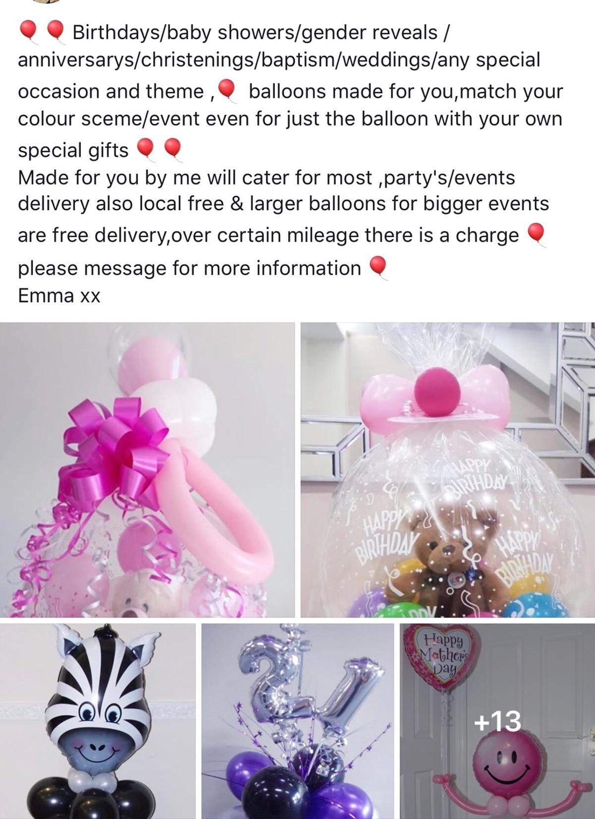 Any balloons for any occasion Father's Day Birthday Christening Weddings Gender reveal Popping balloons You name it  Message for prices and details