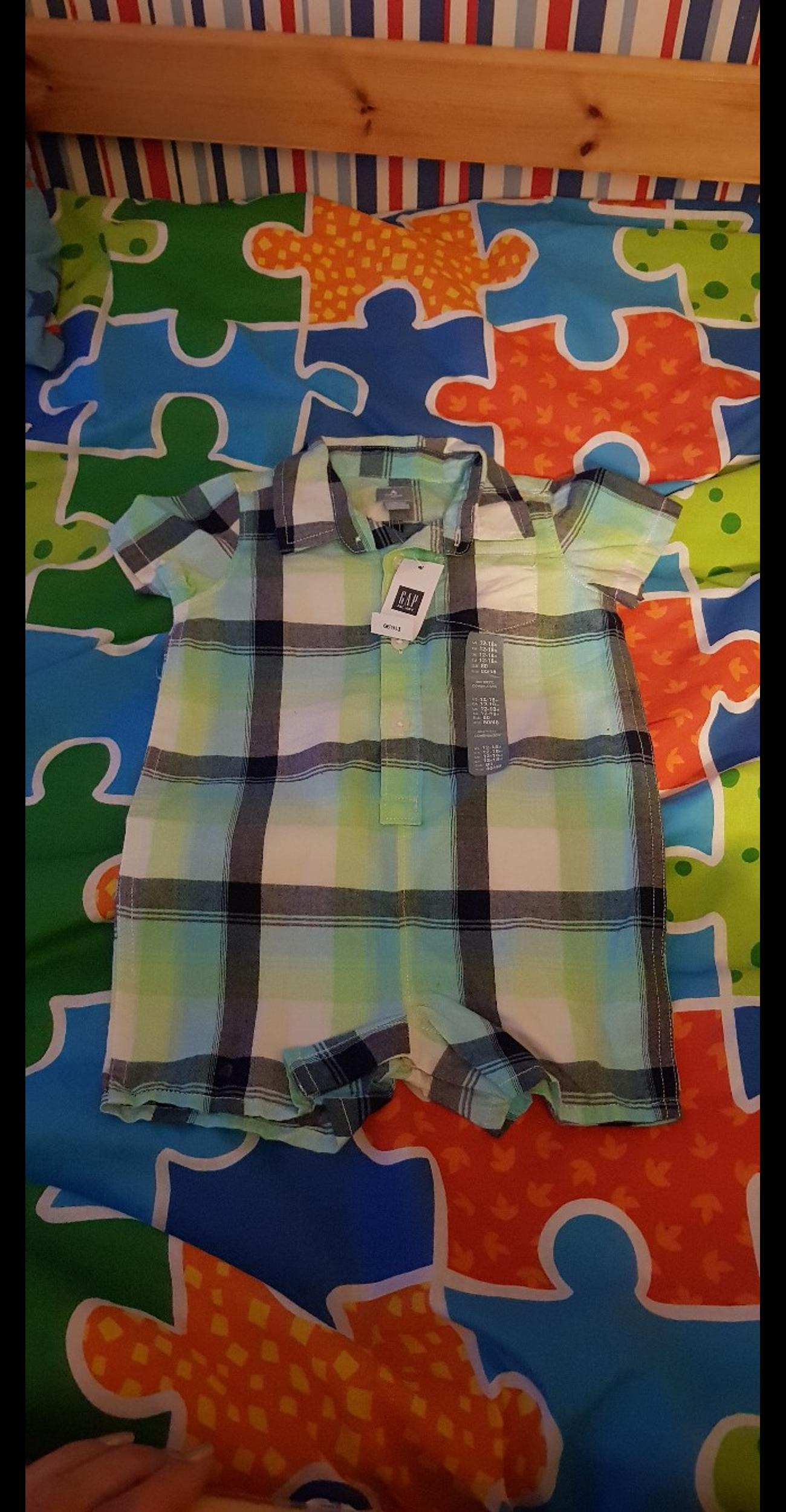 bnwt, gap all in 1 shirt set, age 18m, collection please thanks