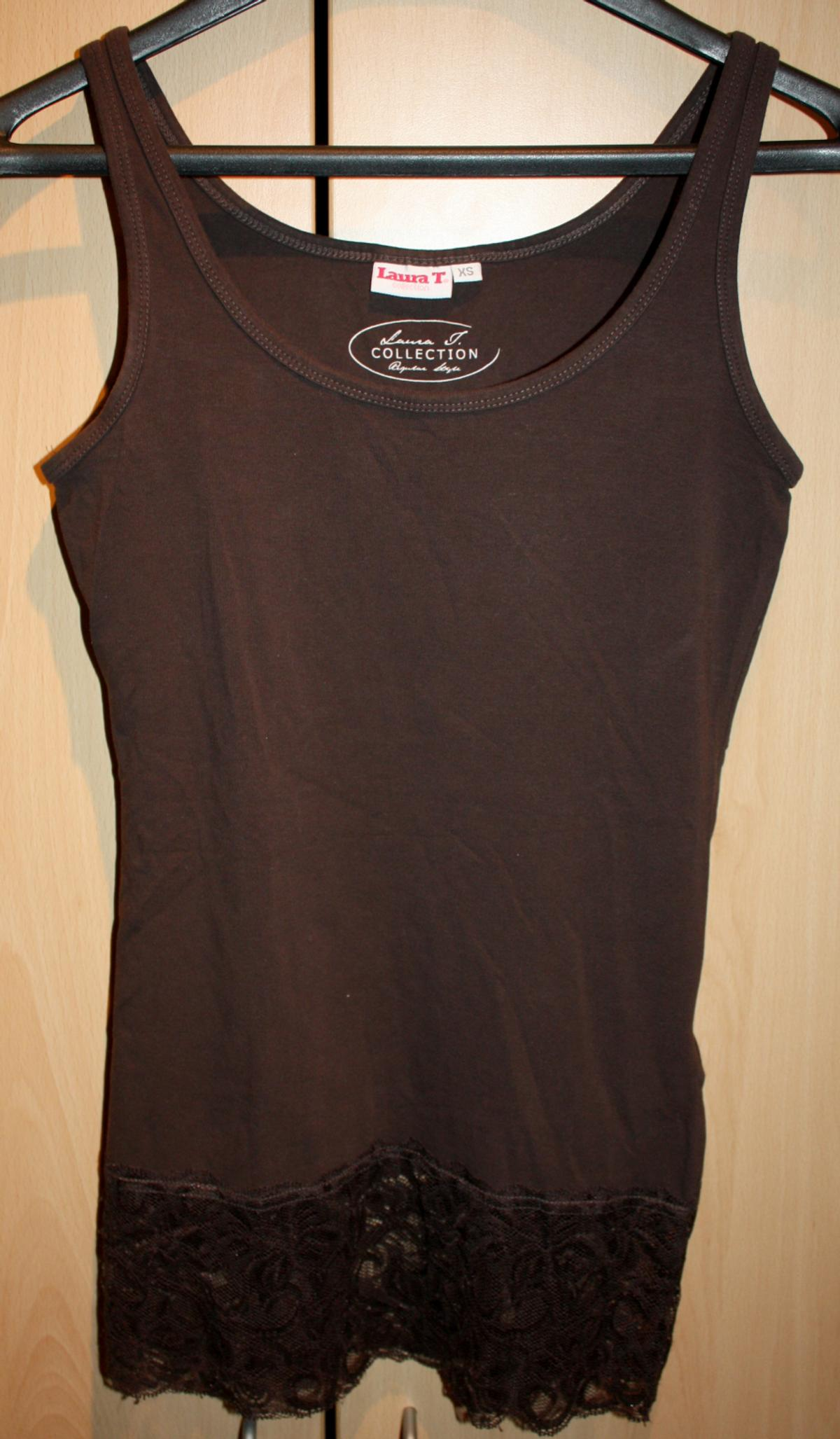 T Shirt by Laura Torelli, braun, Gr. XS in 32760 Detmold for