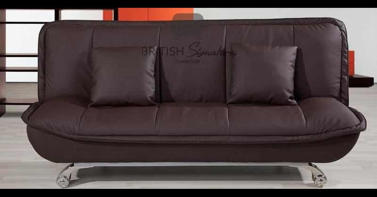 📞 Call Us Now 02033711141📞  STYLISH sofa bed is soft , simple , gorgeous, reliable , and easy to move with four strong CHROME SILVER legs .  This sofa bed is available in two different COLOURS. Black or Brown or cream or red  We offered this soft and relaxing design on a very low price . our slogan is ( NO ONE CAN BEAT OUR PRICES ) the offer is for limited time.  DIMENSIONS:  3 Seater Width (mm): 1850  3 Seater Depth (mm): 920  3 Seater Height (mm): 860  Seat height mm: 380  Open Bed Width (mm): 1850  Open Bed Depth (mm): 1140  Seat depth mm: 600  📞 Call Us Now 02033711141📞