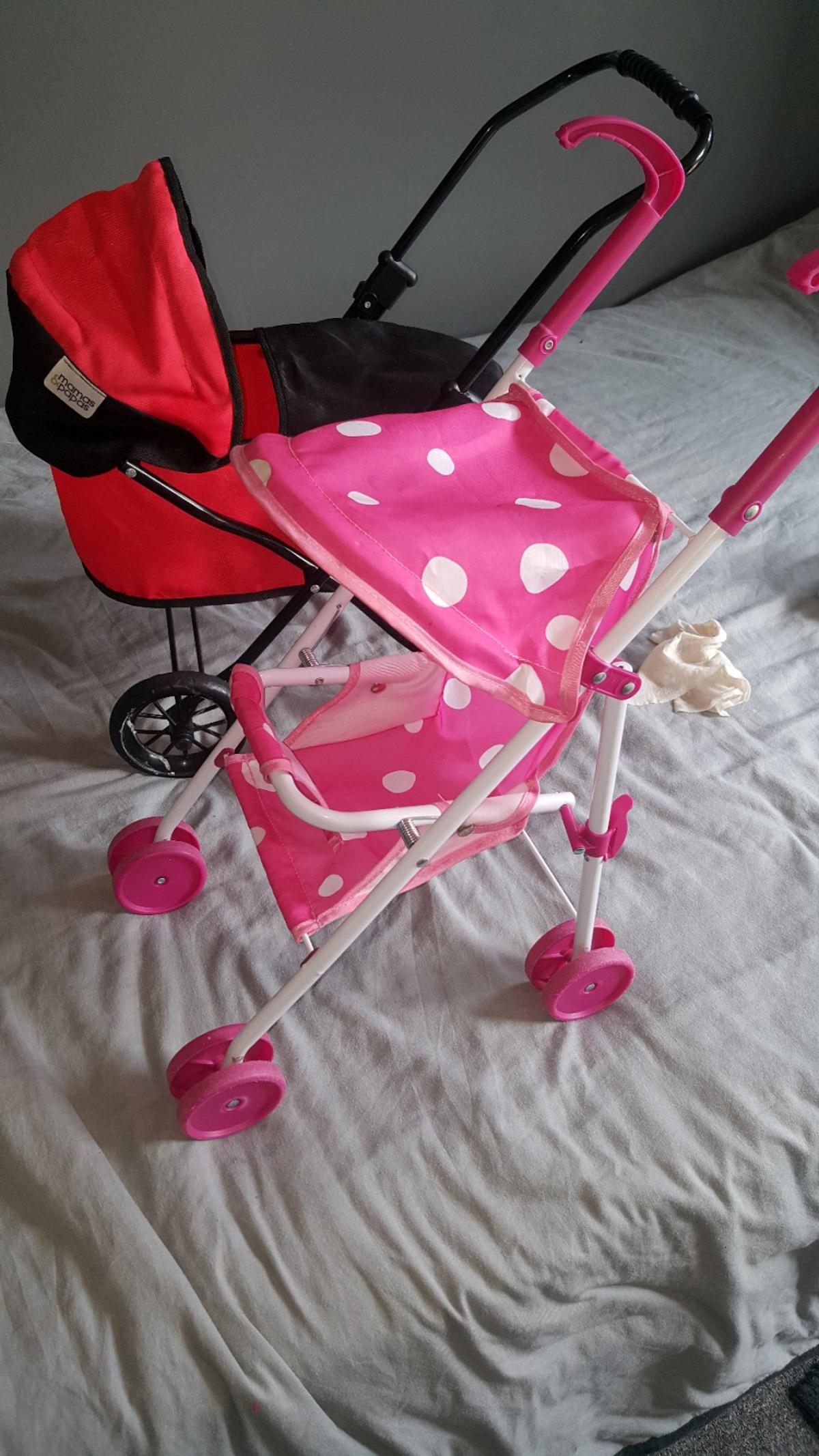 pink my 1st buggy and my 1st m&p pram hardly used £10 both