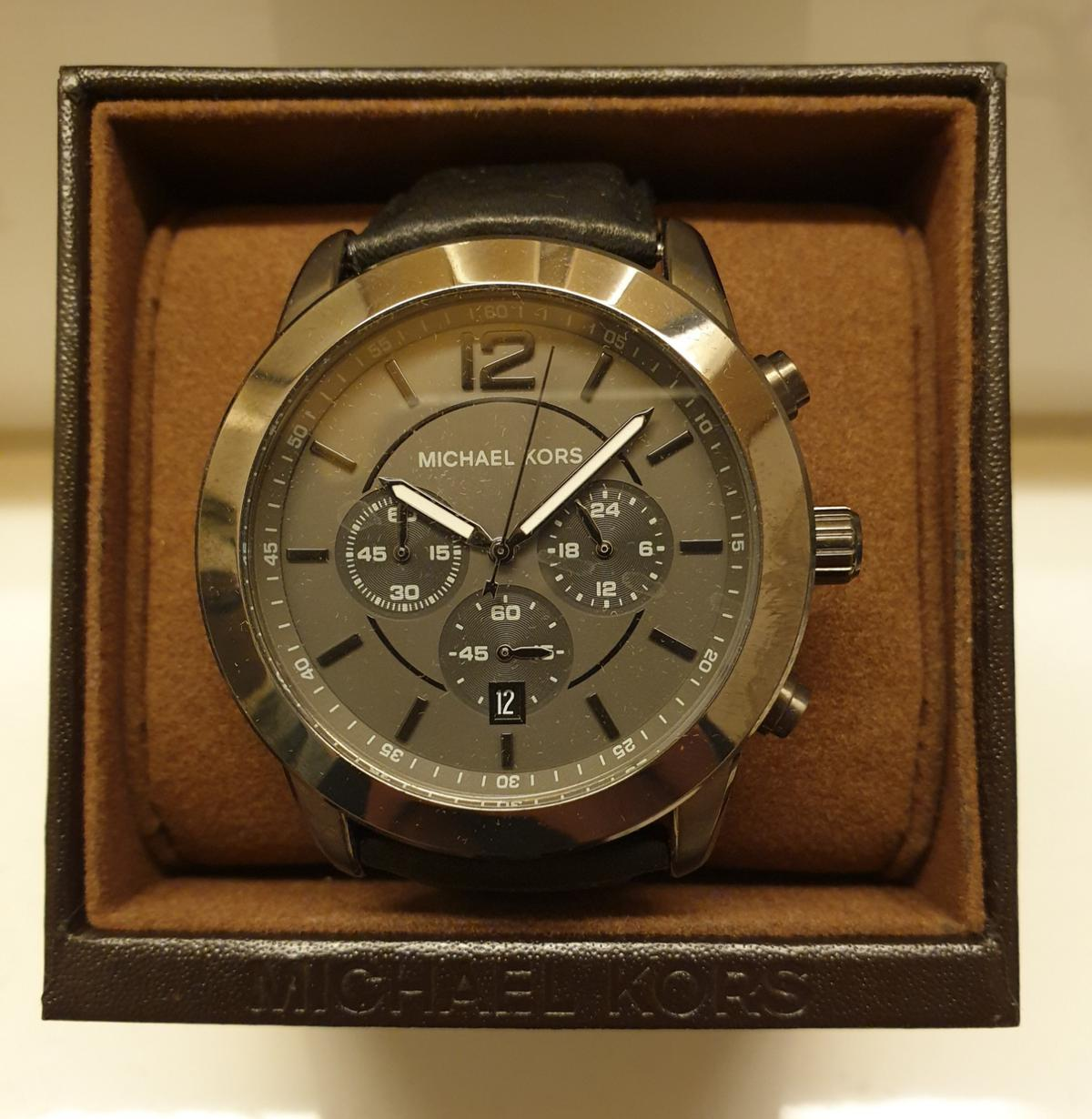 8025ab9291dce Michael Kors Herrenuhr Uhr Chronograph! TOP in 83410 Laufen for ...