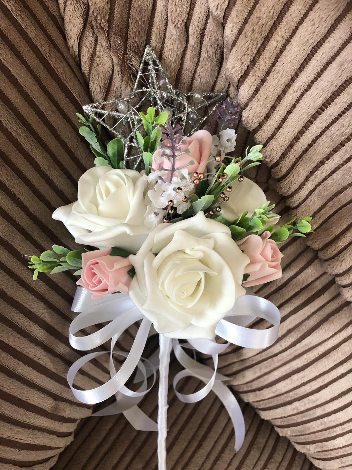 Child's bridesmaids wand can be made in any colour White Ivory Pink Grey Red Orange Blue Navy blue Royal blue Pink Yellow Lilac Purple and many other colours