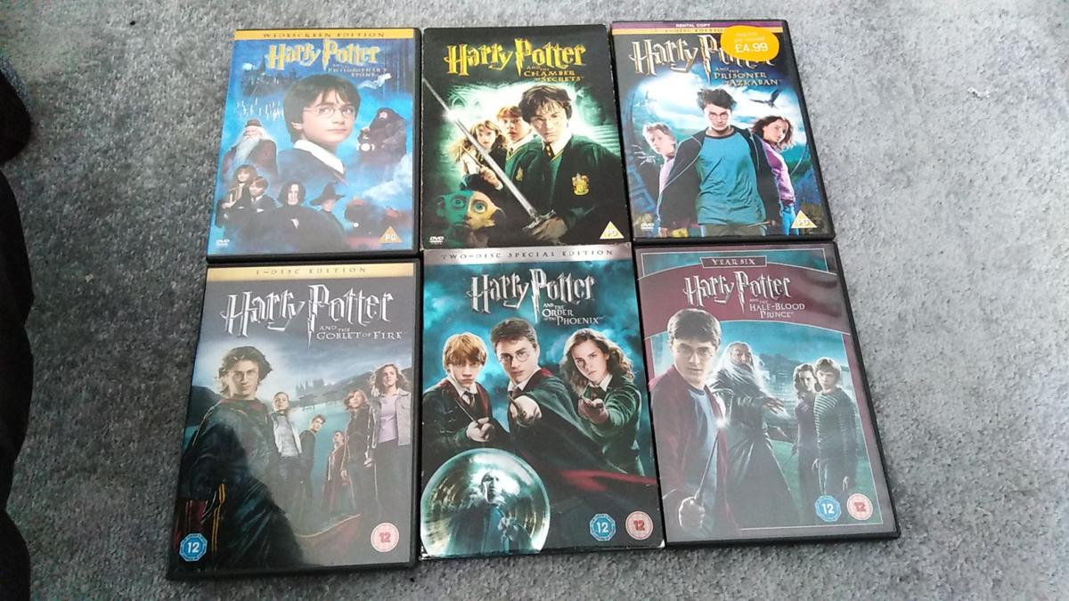 6 Harry Potter dvds  As seen in pic Sold as seen  £8  Collection from Sutton-in-Ashfield No posting