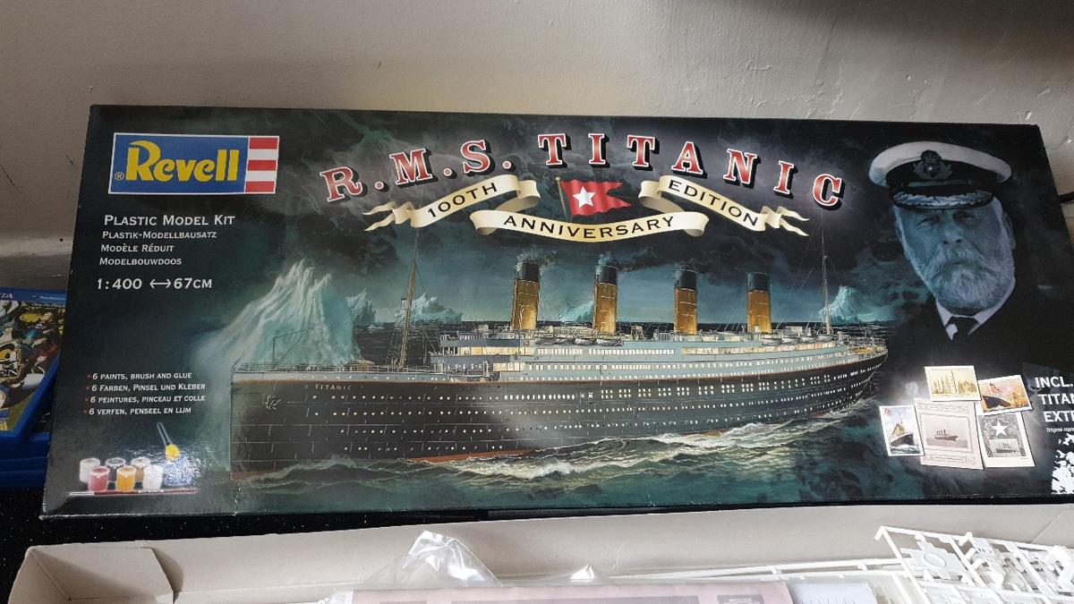 RMS Titanic 100th anniversary plastic model in DY8 Dudley