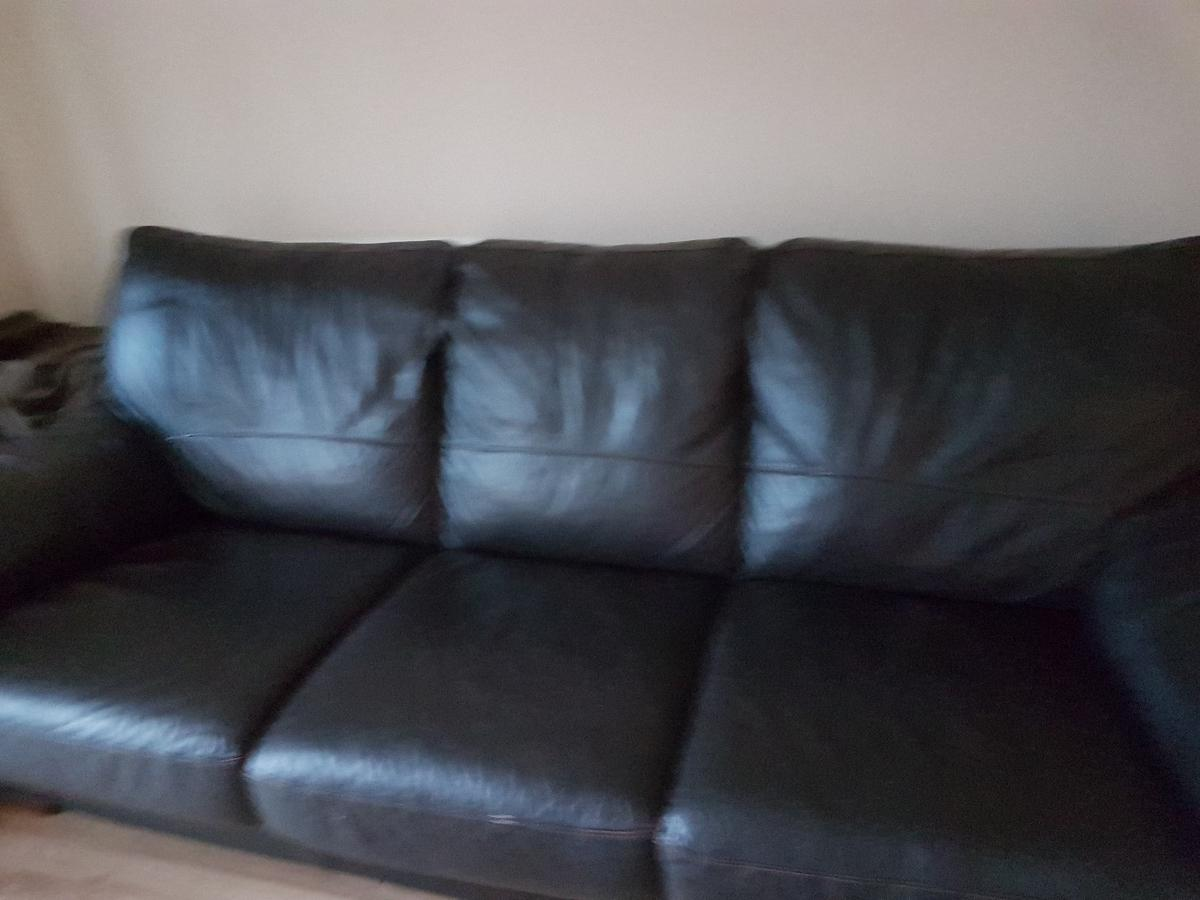 dfs brown leather sofa bed in DE11 Derbyshire for £50.00 for sale ...