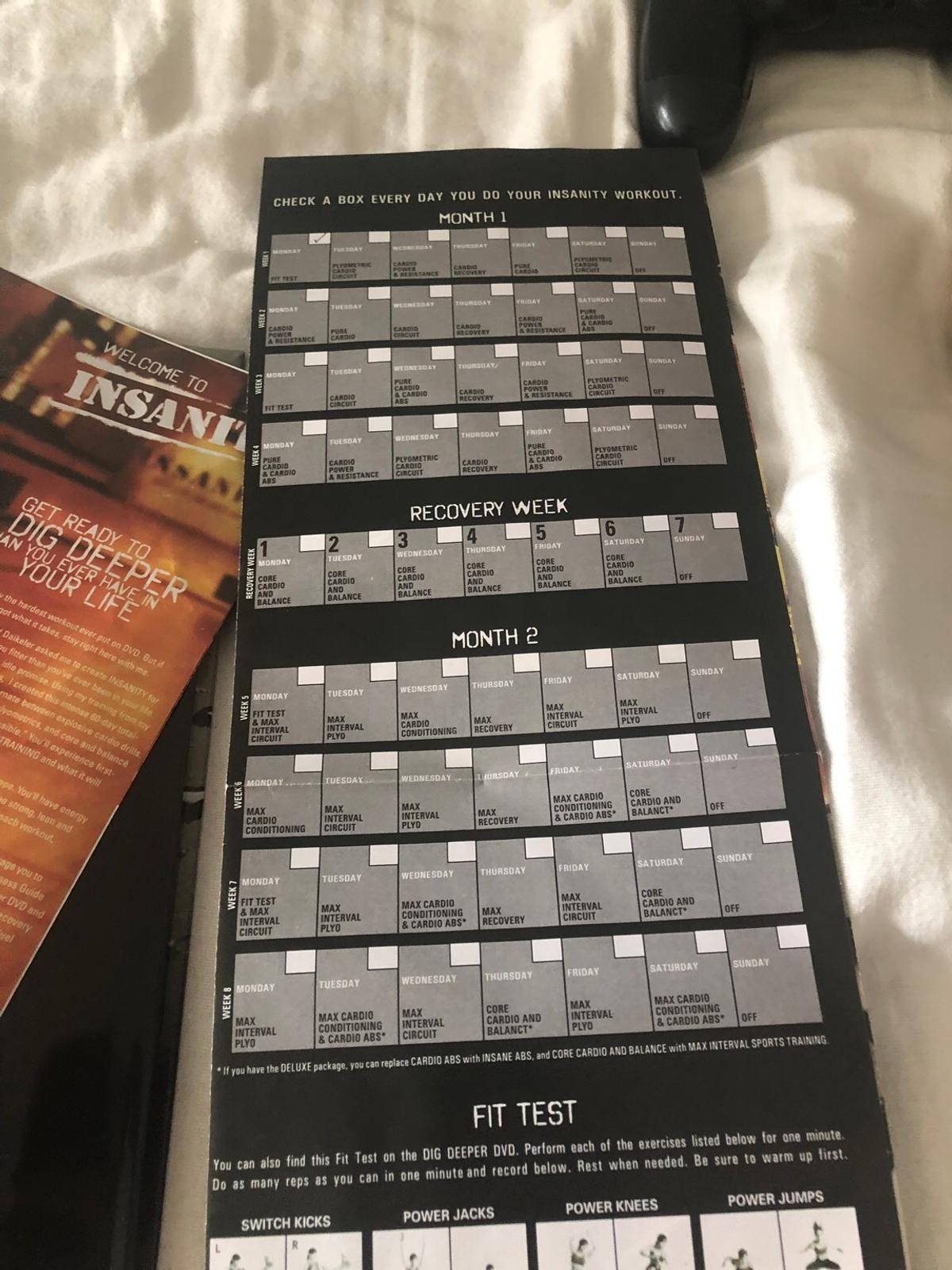 Insanity workout dvd in KT17 Ewell for £35 00 for sale - Shpock