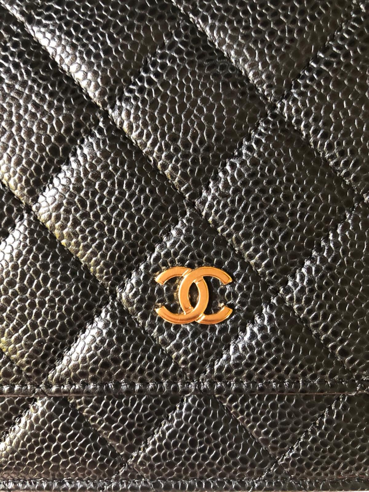 Chanel WOC Black Caviar in Gold Hardware in IG1 London for