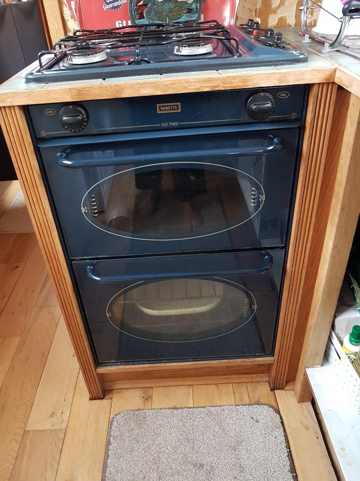LPG gas hob and oven/grill built in unit