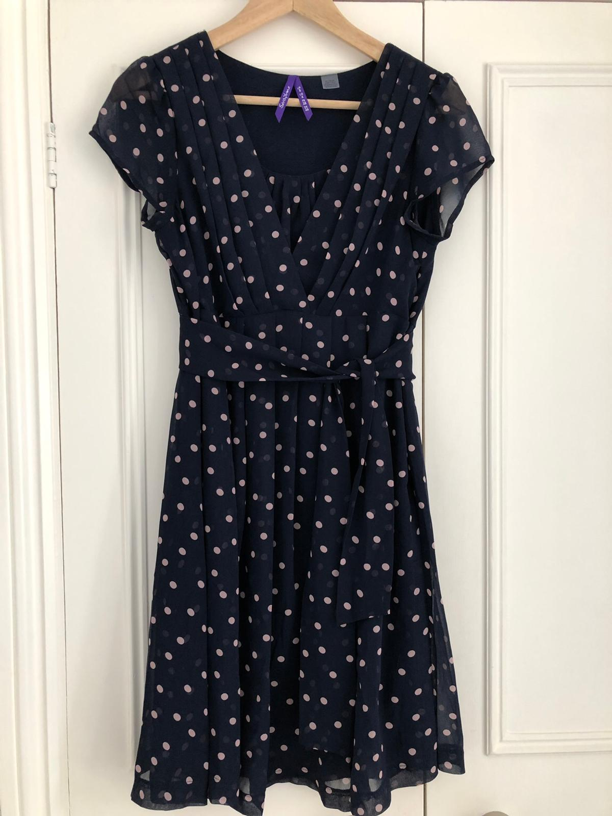 rich and magnificent best website uk availability Seraphine navy blue dot maternity dress UK 8 in W2 Chelsea ...