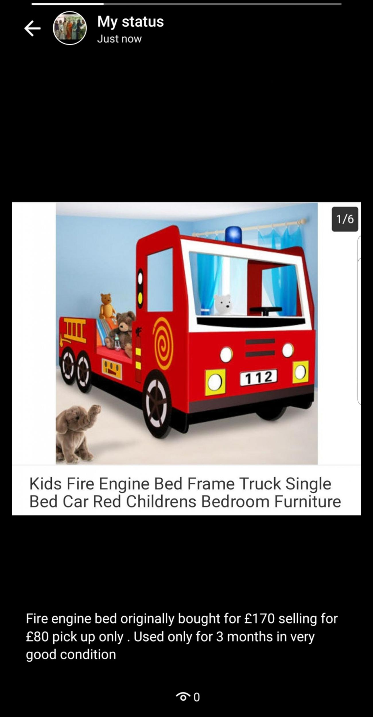 Childrens Fire Engine Bed In E3 London For 80 00 For Sale Shpock