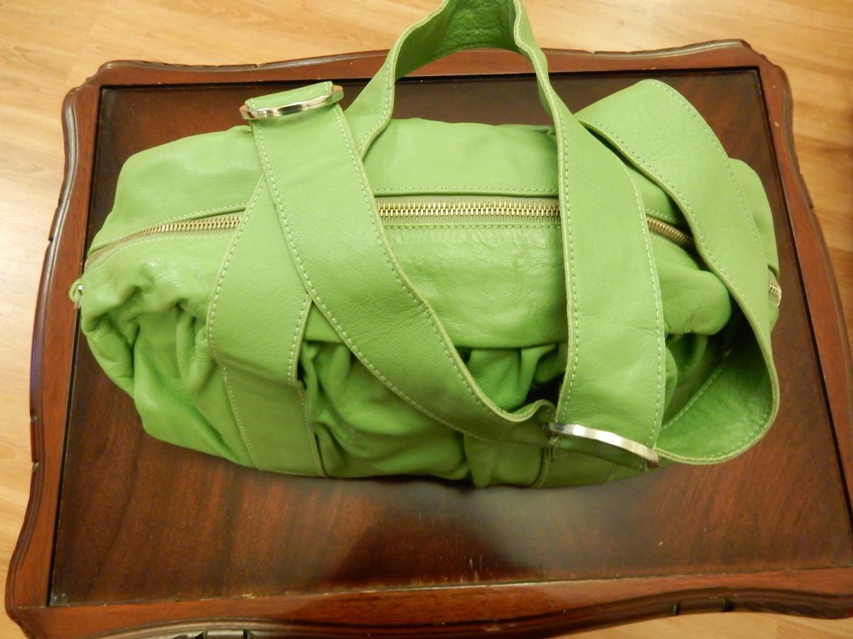 Large Soft Real Leather Handbag By