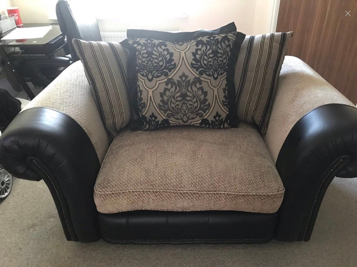 Half leather and half fabric sofas in B20 Birmingham for ...