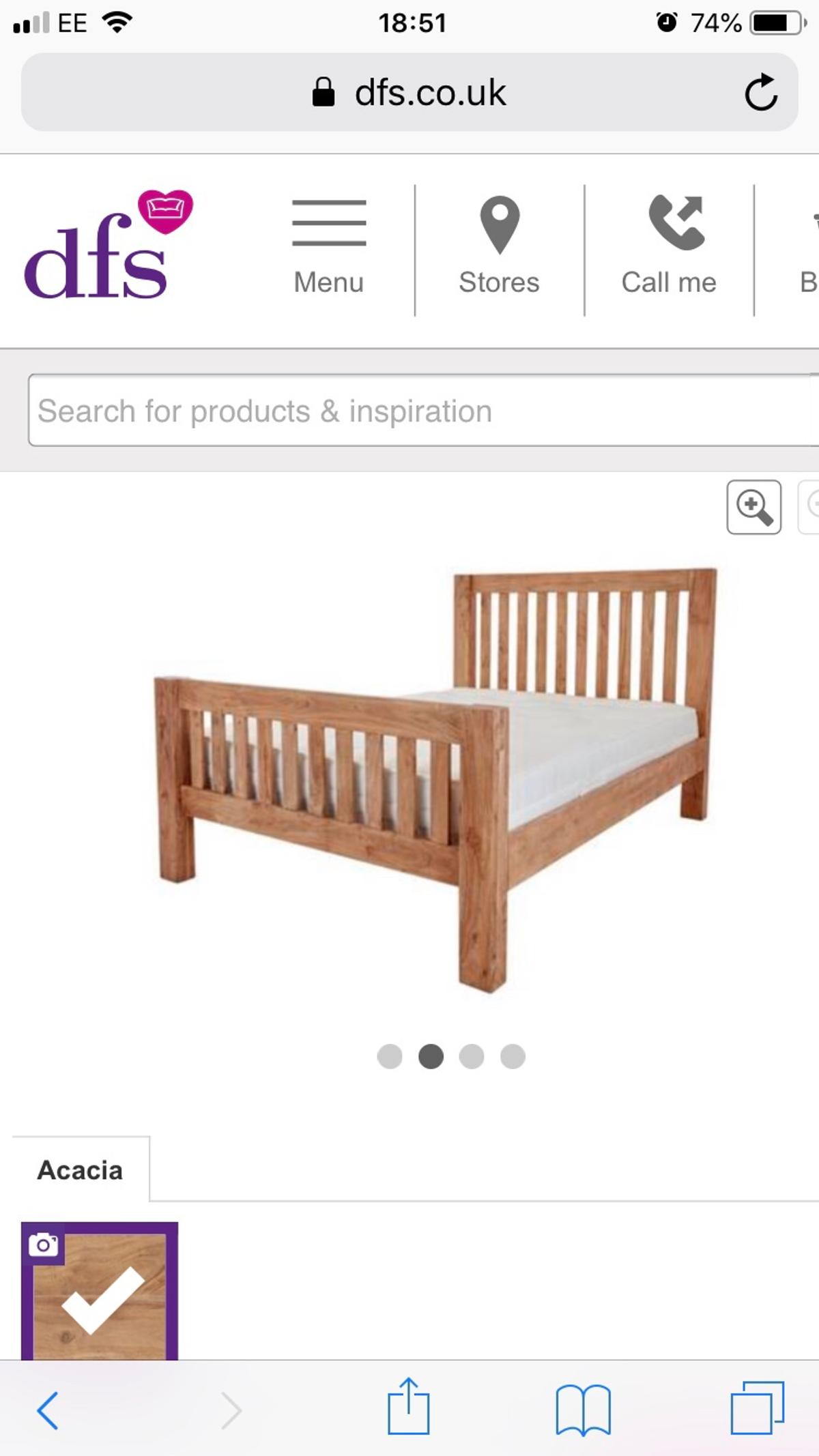 Picture of: Dfs King Size Bed Frame In Cv10 North Warwickshire For 45 00 For Sale Shpock