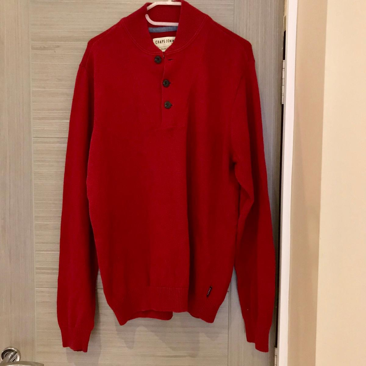 598336f49b7a7a Vintage Chaps Ralph Lauren Red Jumper Button in W6 London for £14.99 ...