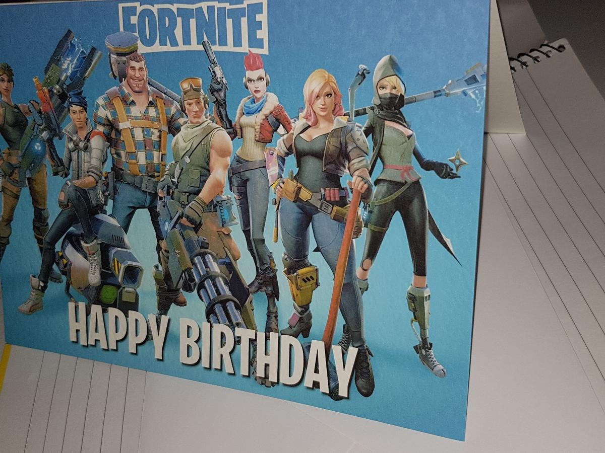 photograph regarding Fortnite Birthday Card Printable titled FORTNITE Young children BIRTHDAY CARD ENVELOPE within just WS3 Walsall for